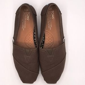Tom's Women's Gray Casual Slip On Canvas Shoes 7.5